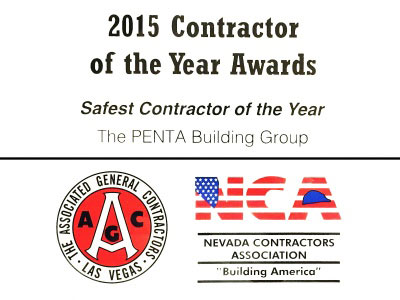 2015 Safest Contractor of the Year Award